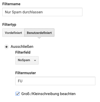 Spamkontrollfilter