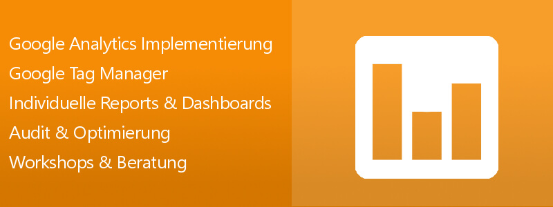 Google Analytics / Tag Manager Leistungen